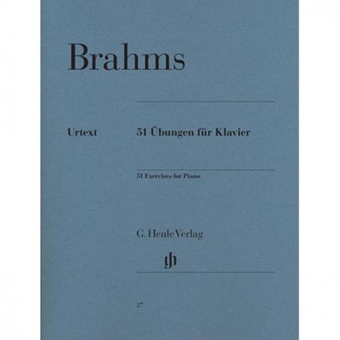 [스쿨뮤직]Brahms - 51 Exercises for Piano<br>브람스 - 51 피아노 연습곡 [HN27]