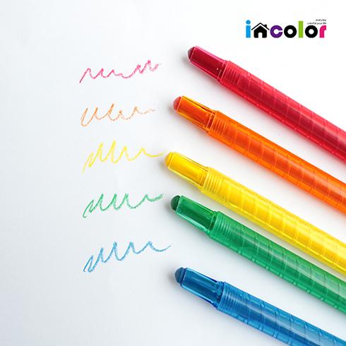 [정프로팩토리] 잘 써지는 비비드 돌돌이 색연필