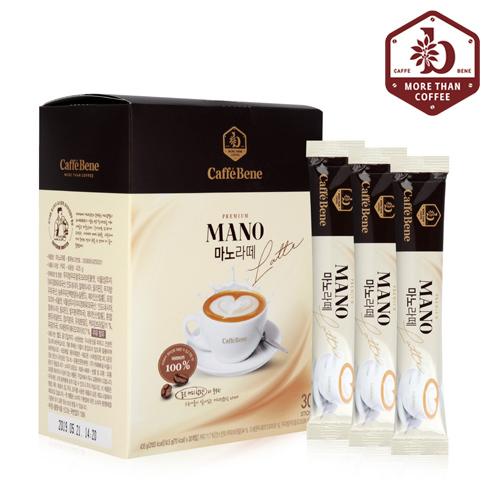 [카페베네]마노라떼 30T/카페라떼/우유/커피